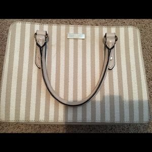 Kate Spade cream and tan purse